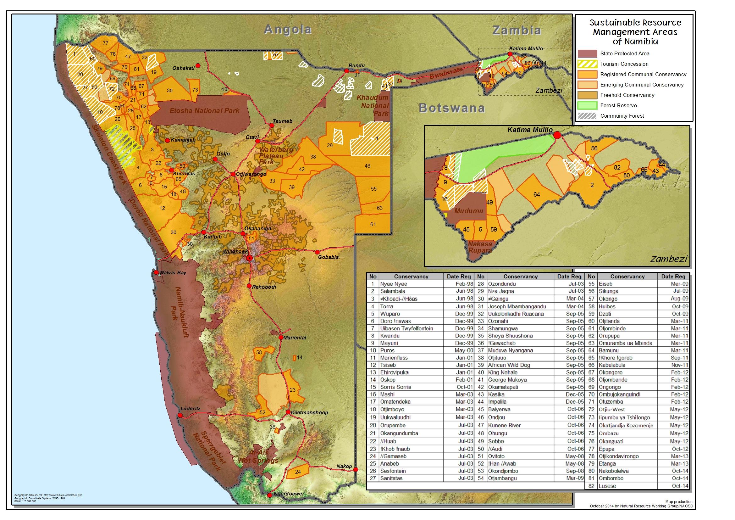 Communal conservancies map