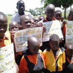 WASH sensitization posters developed for dissemination in schools and community gathering areas. Masindi, Uganda. Photo Credit, The Jane Goodall Institute