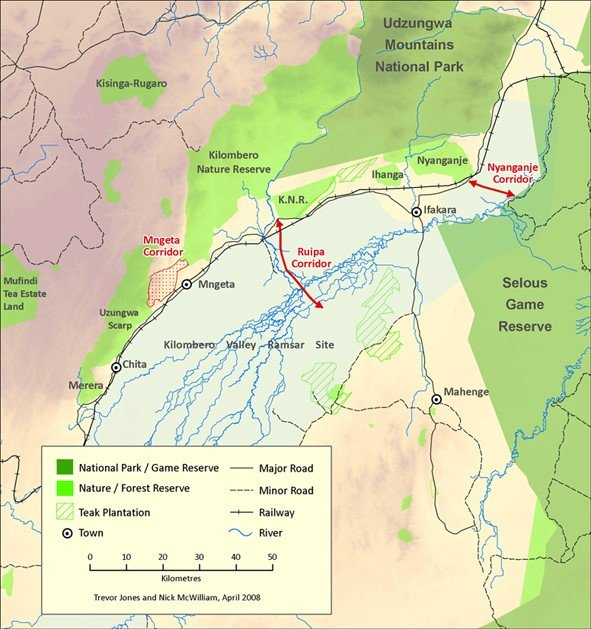 Protected areas and wildlife corridor in the landscapes