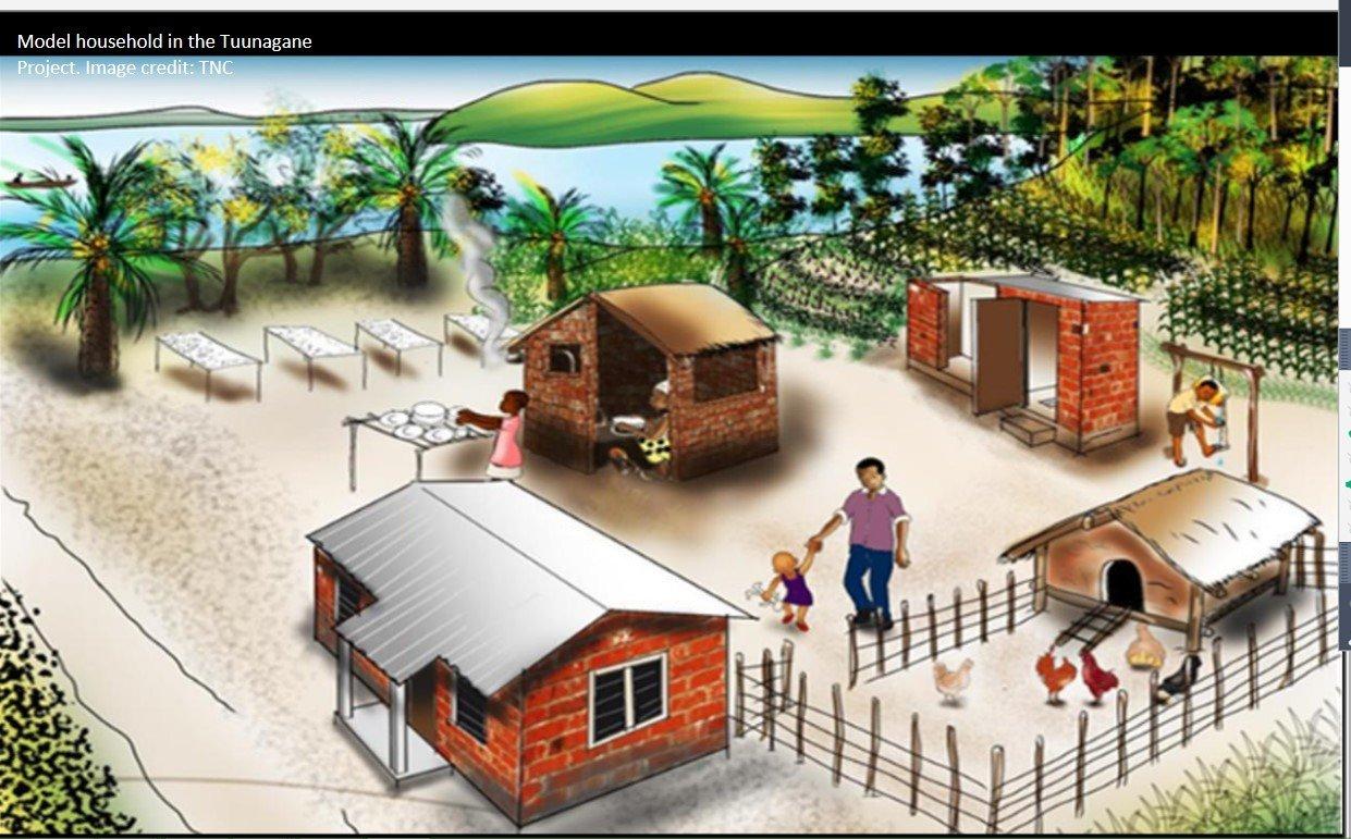 Model household in Tanzania by Pathfinder International