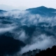 Clouds rise through Bwindi Impenetrable National Park